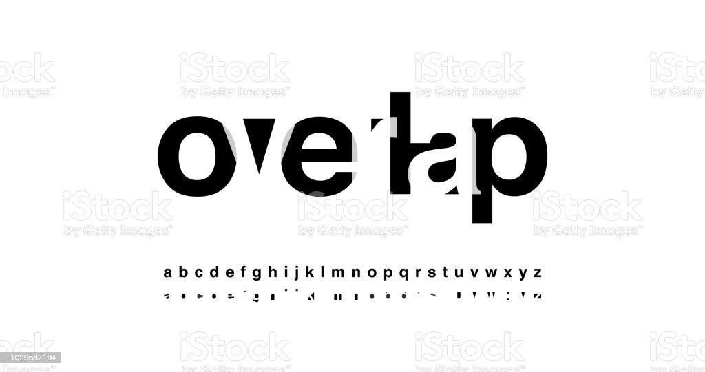 modern alphabet font overlap style. calligraphy designs for logo, Poster, Invitation, etc. Typography font lowercase. vector illustrator vector art illustration