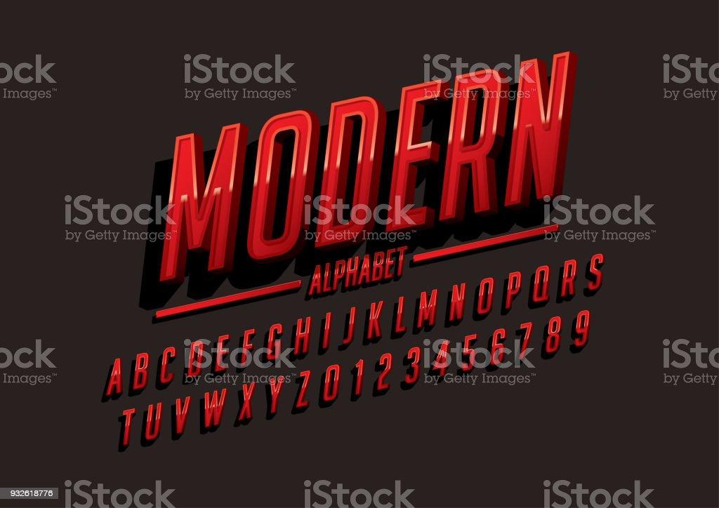 alphabet moderne - Illustration vectorielle