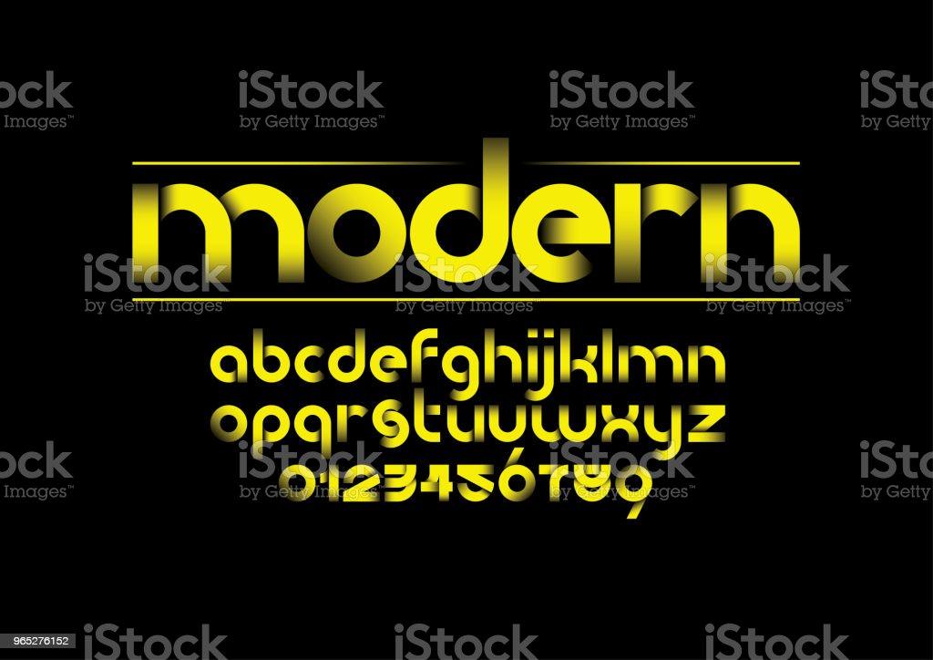 Modern alphabet modern alphabet - stockowe grafiki wektorowe i więcej obrazów alfabet royalty-free