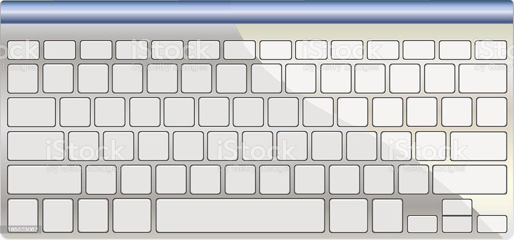 Modern aluminum computer keyboard isolated on white royalty-free modern aluminum computer keyboard isolated on white stock vector art & more images of aluminum