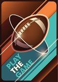 Modern american football poster.