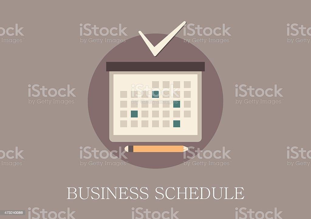 design moderne et classique d'affaires plat concept icône de calendrier - Illustration vectorielle