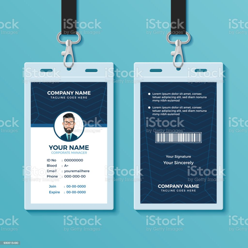 Modern And Clean Id Card Template Stock Vector Art & More Images of ...