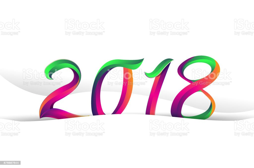 2018 modern and colorful type happy new year 2018 sign with abstract 2018 modern and colorful type happy new year 2018 sign with abstract background vector voltagebd Images