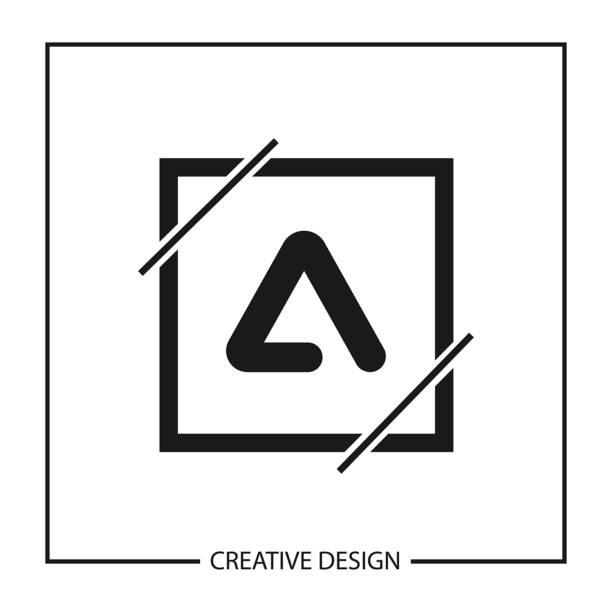 Modern and minimalist Letter A Logo Template Design vector art illustration