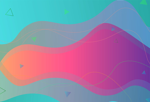 Modern and simple red and cyan abstract vector design background