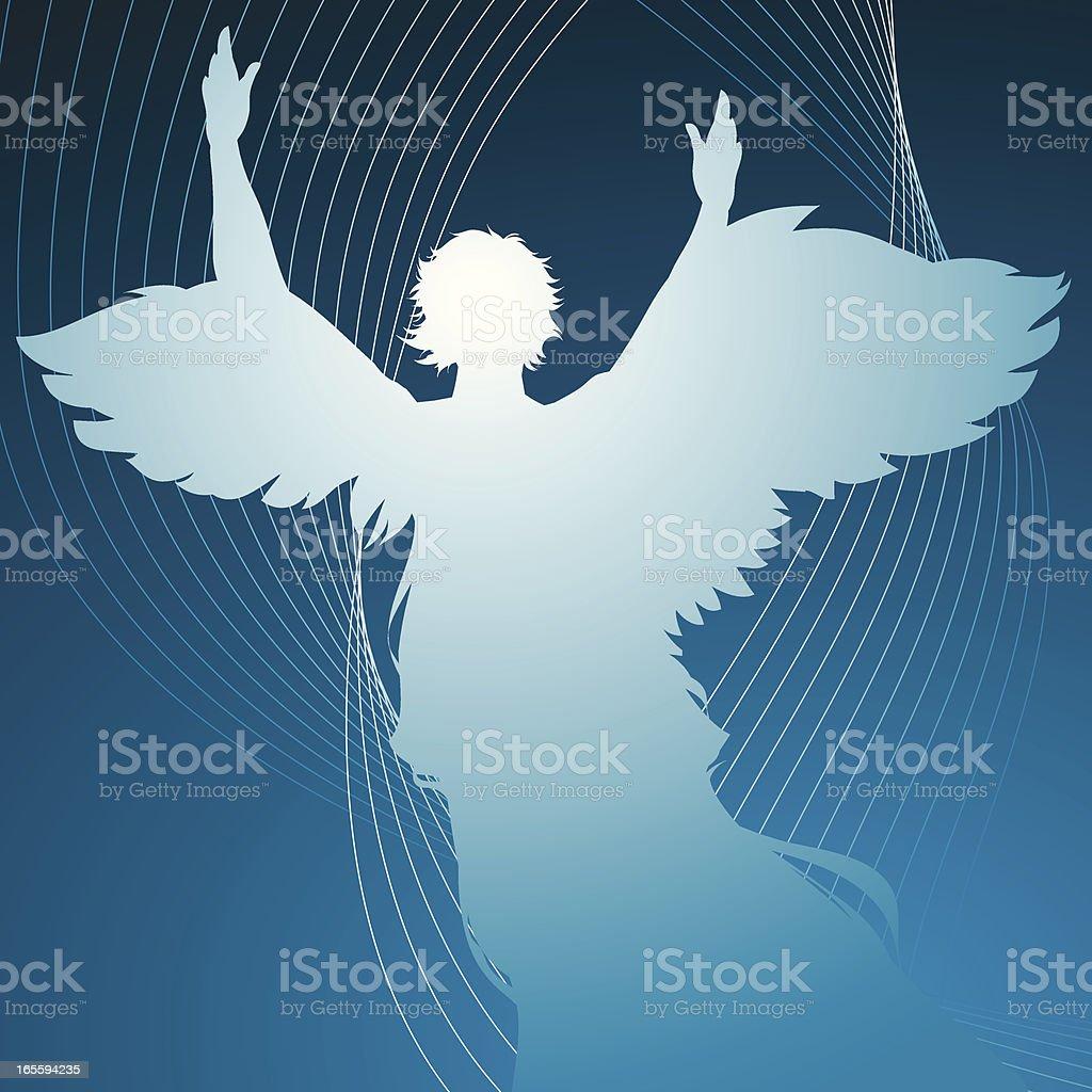 Modern angel royalty-free stock vector art