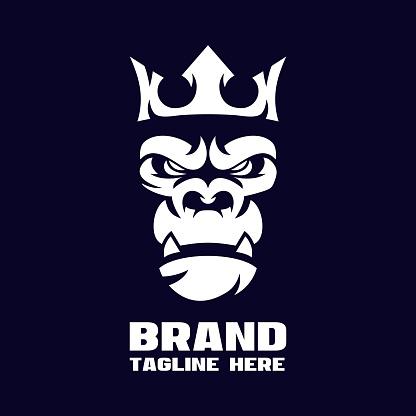 Modern angry gorilla logo
