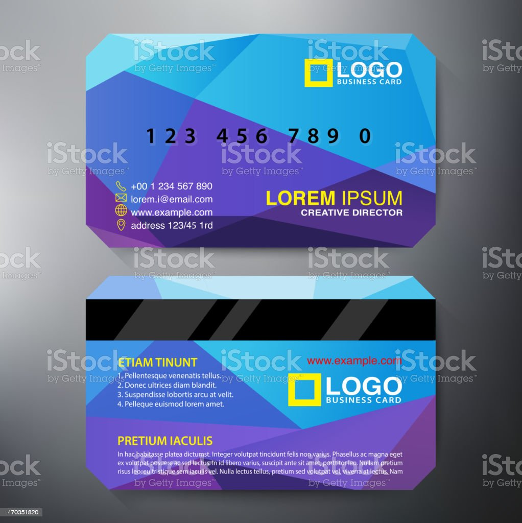 Modern angular design template for a twosided business card stock modern angular design template for a two sided business card royalty free modern angular flashek Gallery