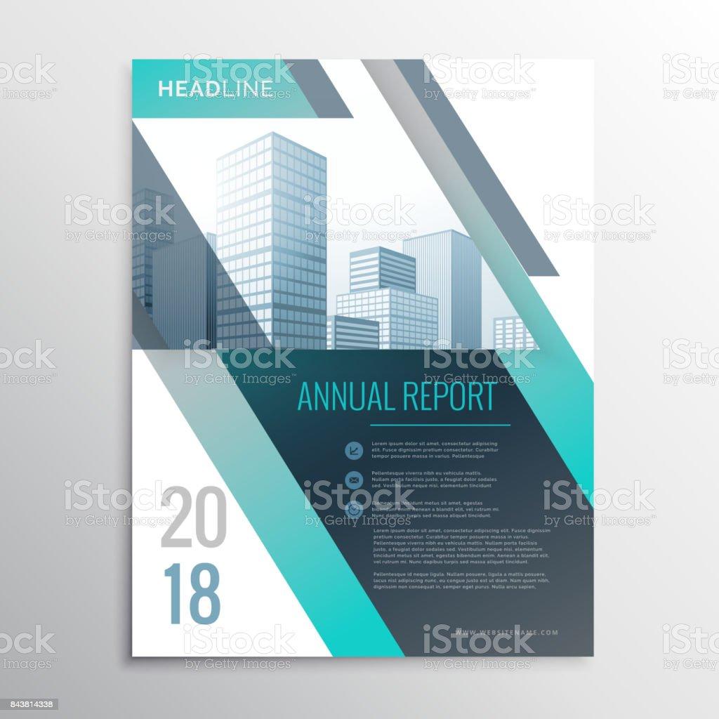 Moderne Jährlichen Bericht Business Broschüre Design Vorlage