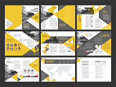 A set of modern annual report layout design