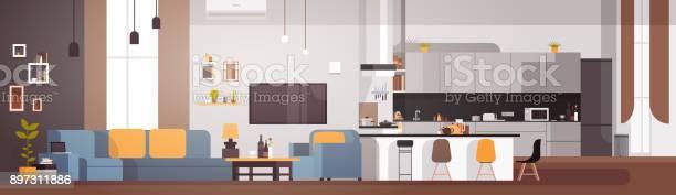 Modern apartment interior with living room and kitchen horizontal vector id897311886?b=1&k=6&m=897311886&s=612x612&h=b  rs5qhnpz25imei9e9bs4yrcvaiqopkewium9ktqi=