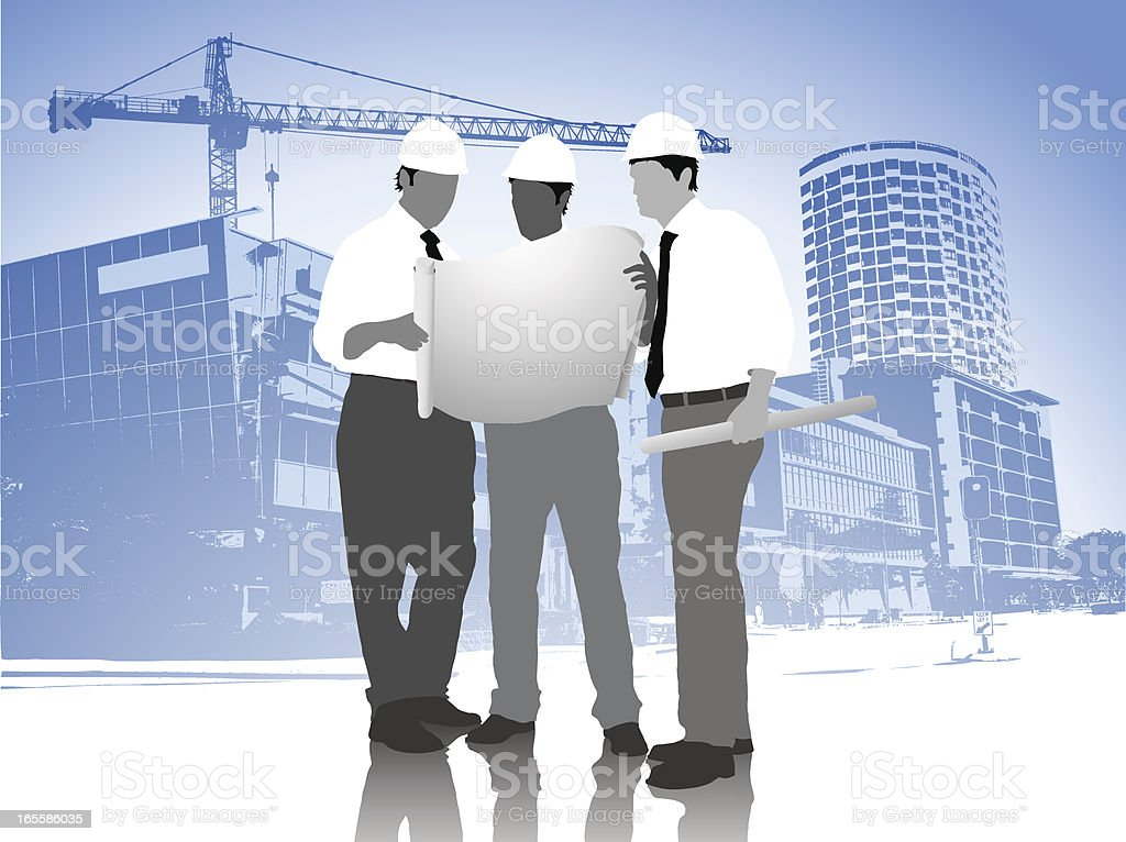 Modern Architects vector art illustration