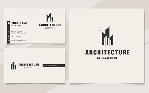 Modern architecture abstract symbol template
