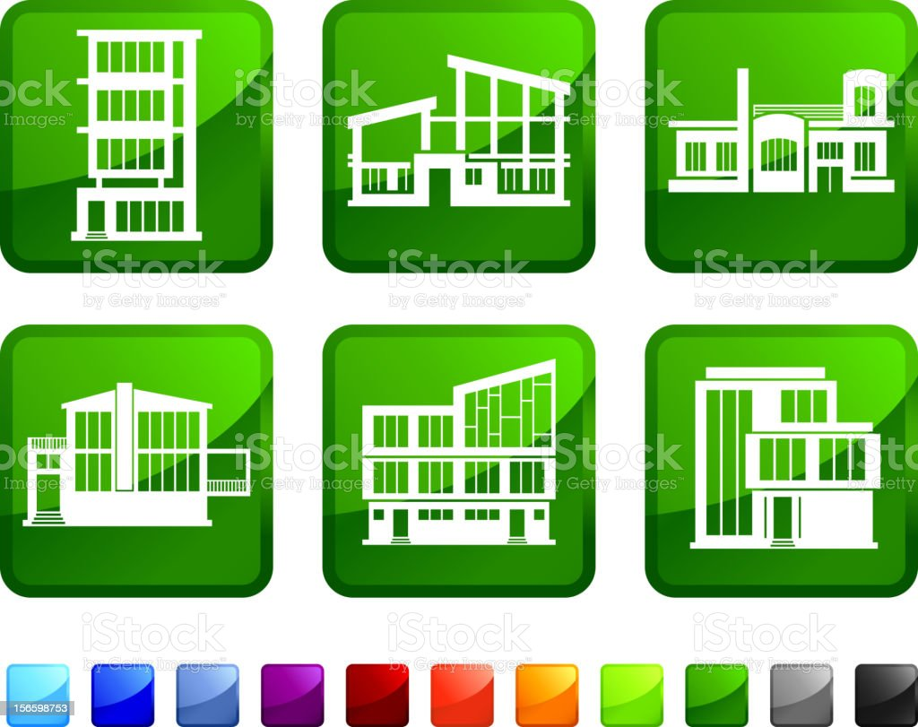 Modern Architecture Homes royalty free vector icon set stickers royalty-free stock vector art