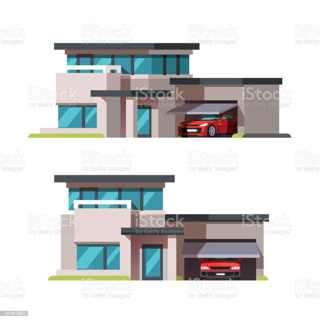 bâtiment de style de larchitecture moderne maison avec modèle de