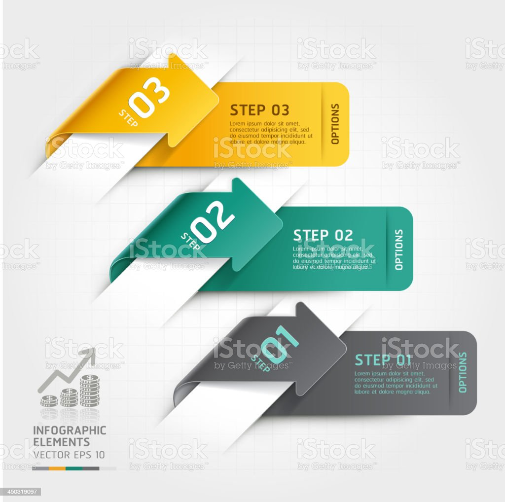 Modern arrow Infographics origami banner template. royalty-free stock vector art