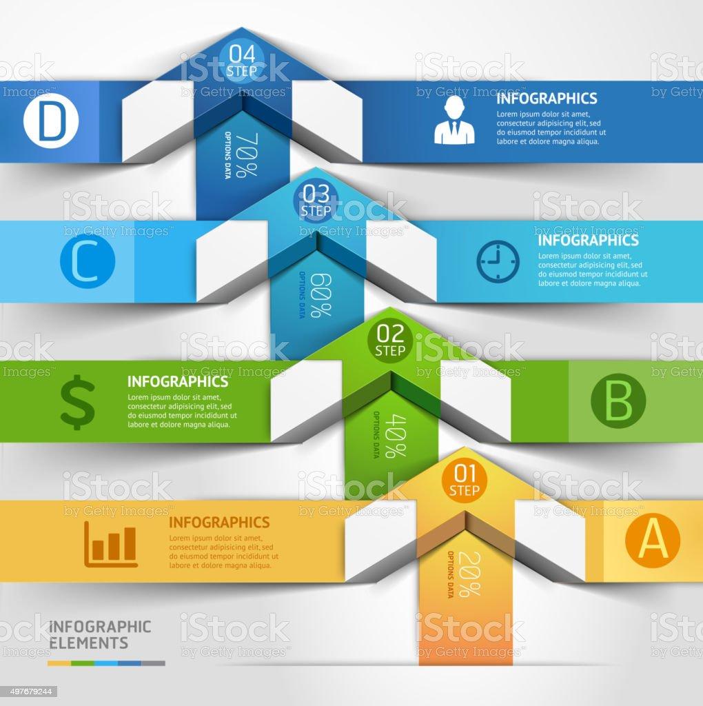 Moderne Pfeil Infografiken template. – Vektorgrafik