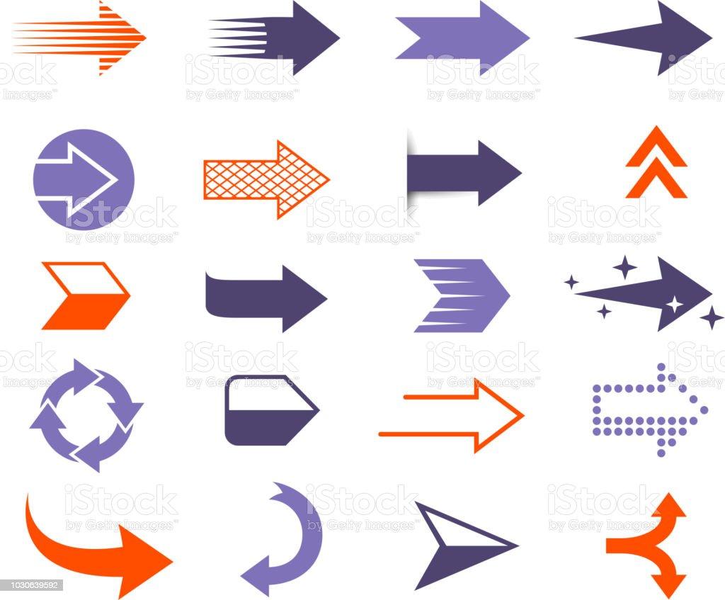 setas modernas - ilustração de arte em vetor