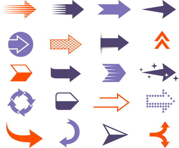 modern arrows - motion stock illustrations
