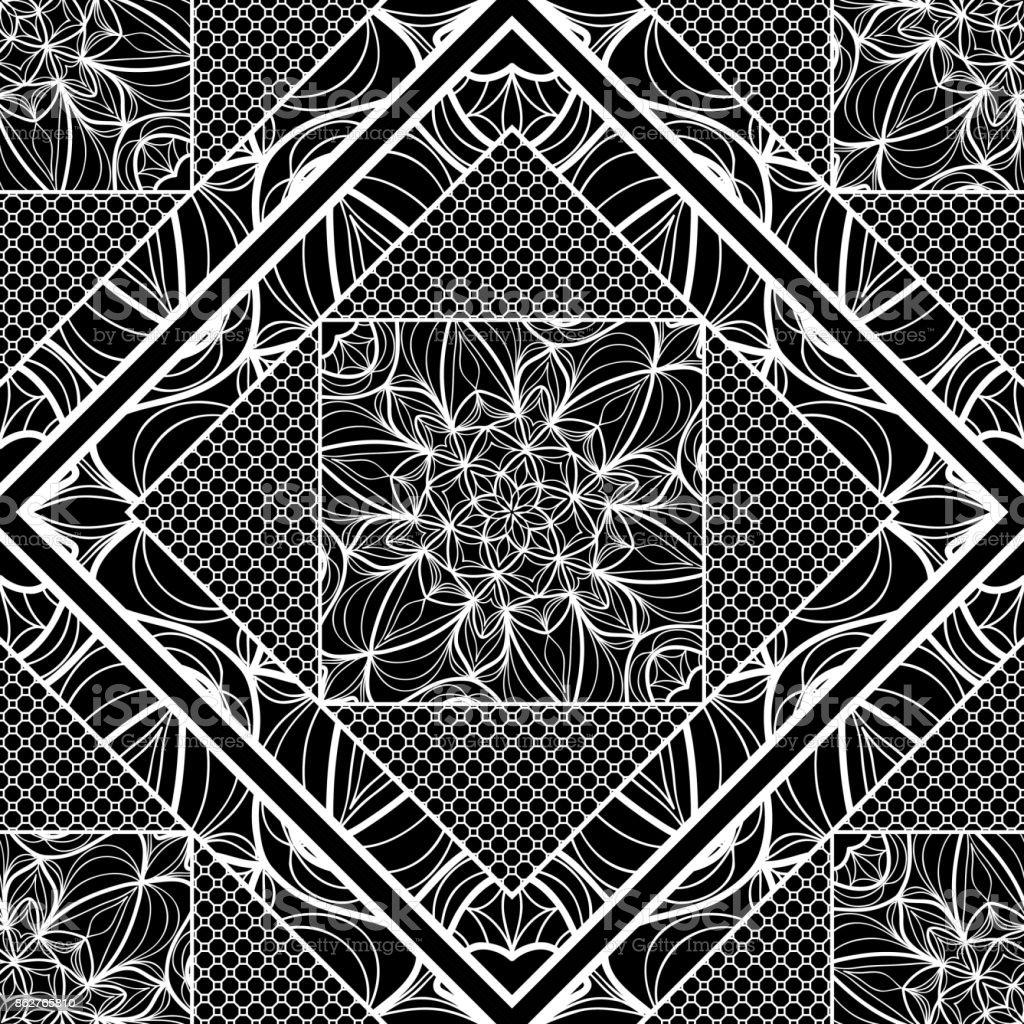 modern art deco seamless pattern. floral element. vector illustration. web texture vector art illustration