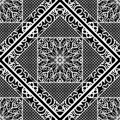 modern art deco seamless pattern. floral element. vector illustration. web texture