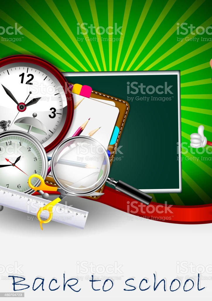 Modern Back to school background royalty-free stock vector art