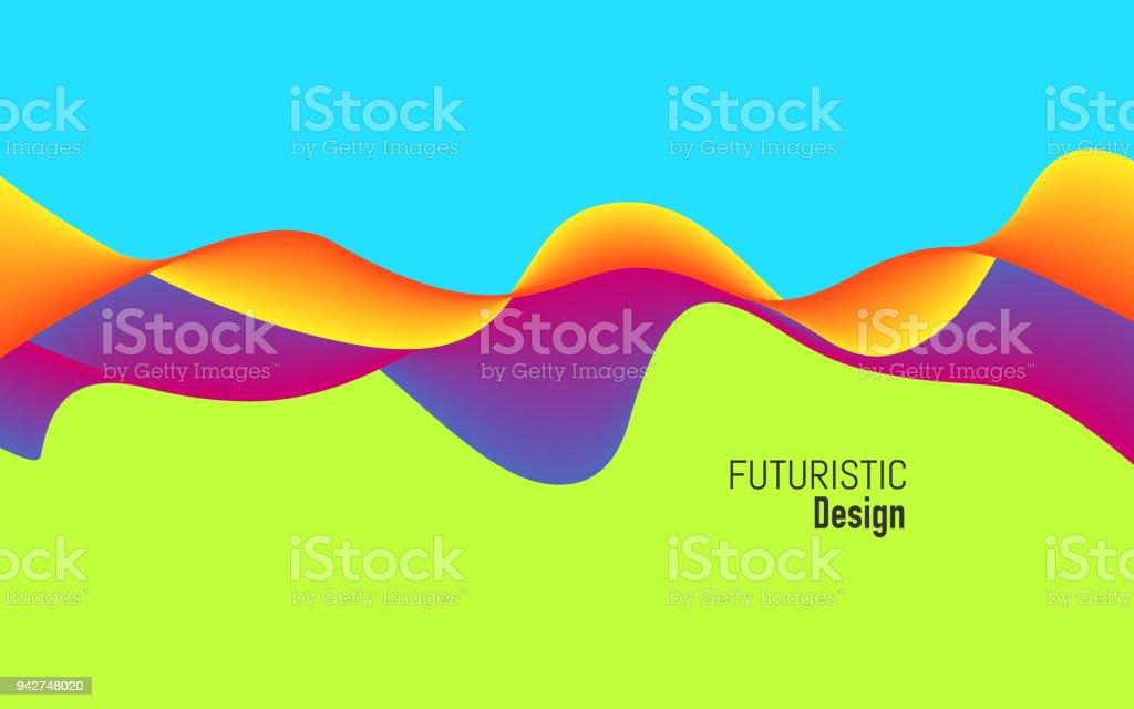動的な効果を持つモダンな背景は明るいデザインの流行色カラフルな