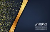 Modern background with glitter effect. Abstract background with gold colour for business