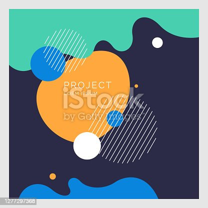 istock Modern backgrounds with abstract elements and dynamic shapes. Compositions of colored spots. Vector illustration. 1277297368