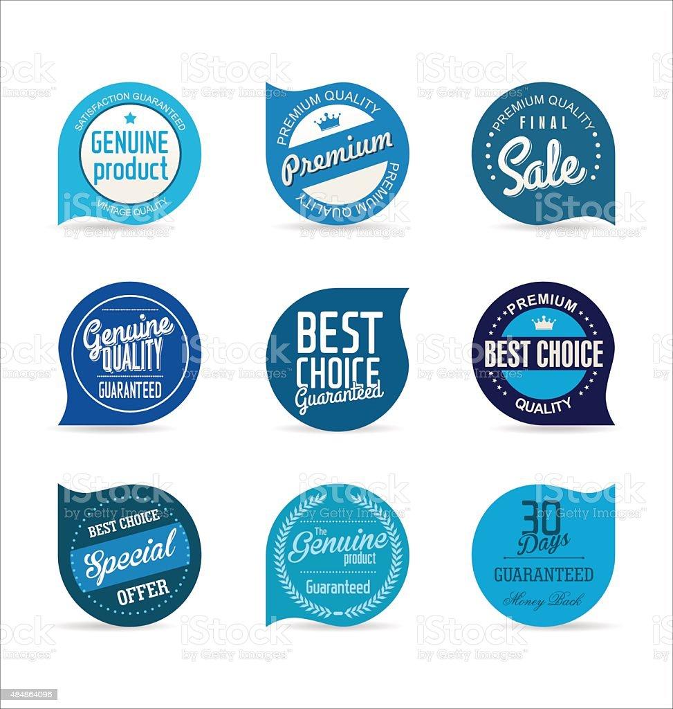 Moderne Abzeichen Sammlung – Vektorgrafik