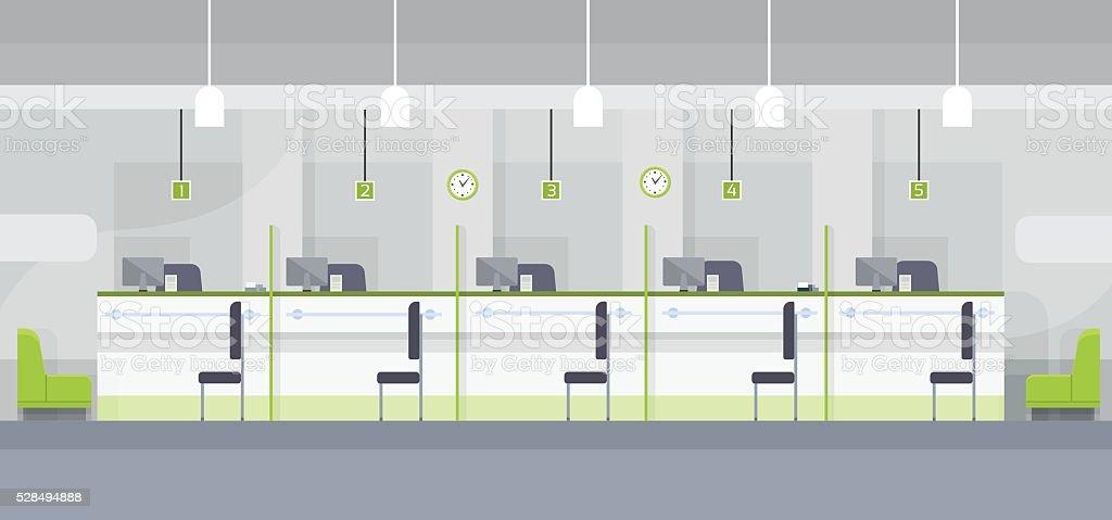 Eviaremos interior de la oficina moderna de banco de for Oficinas modernas concepto