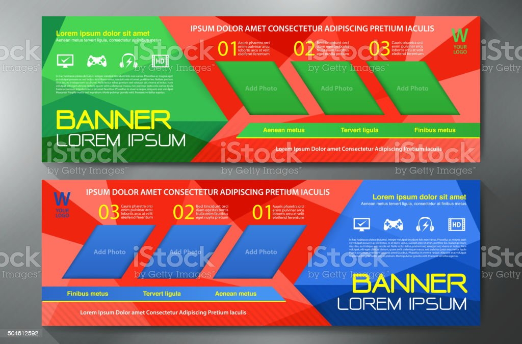 Modern Banner Business Design Template Background. vector art illustration