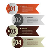 Modern banners. Infographics element origami style. Vector.
