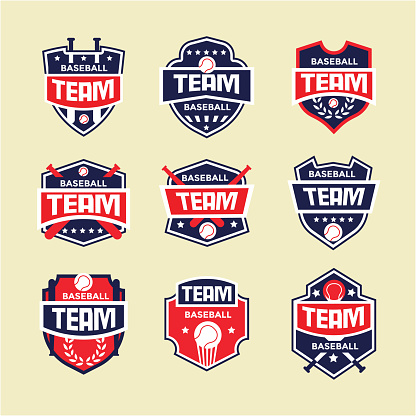 Modern Baseball Badge logo Design template