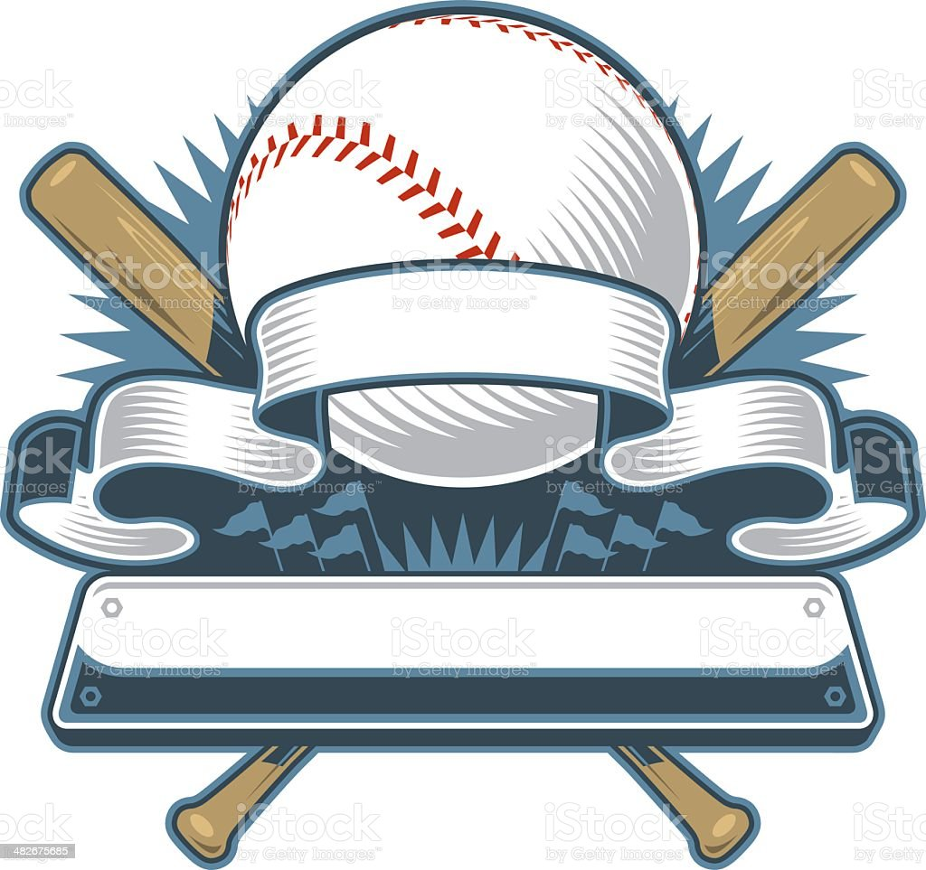 Modern Baseball Design royalty-free stock vector art