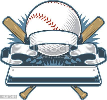 istock Modern Baseball Design 482675685