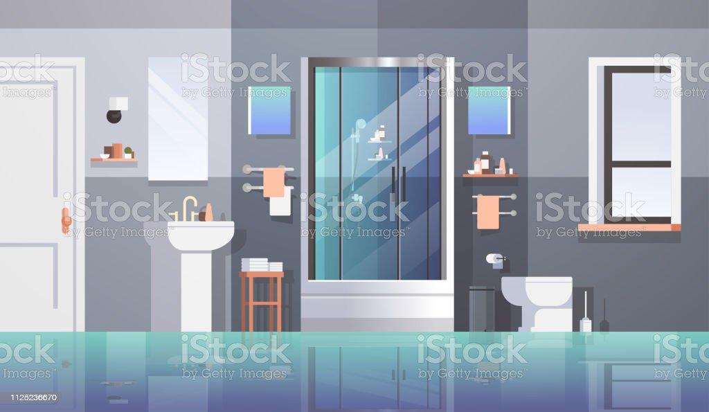 Moderne Badezimmermöbel Keine Menschen Leeren Raum Bad ...