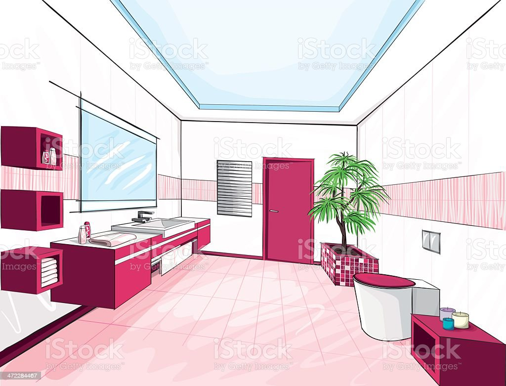 Modern bathroom. royalty-free stock vector art