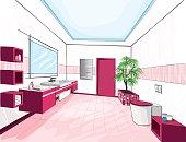Modern bathroom. Laconic style. Minimalism.