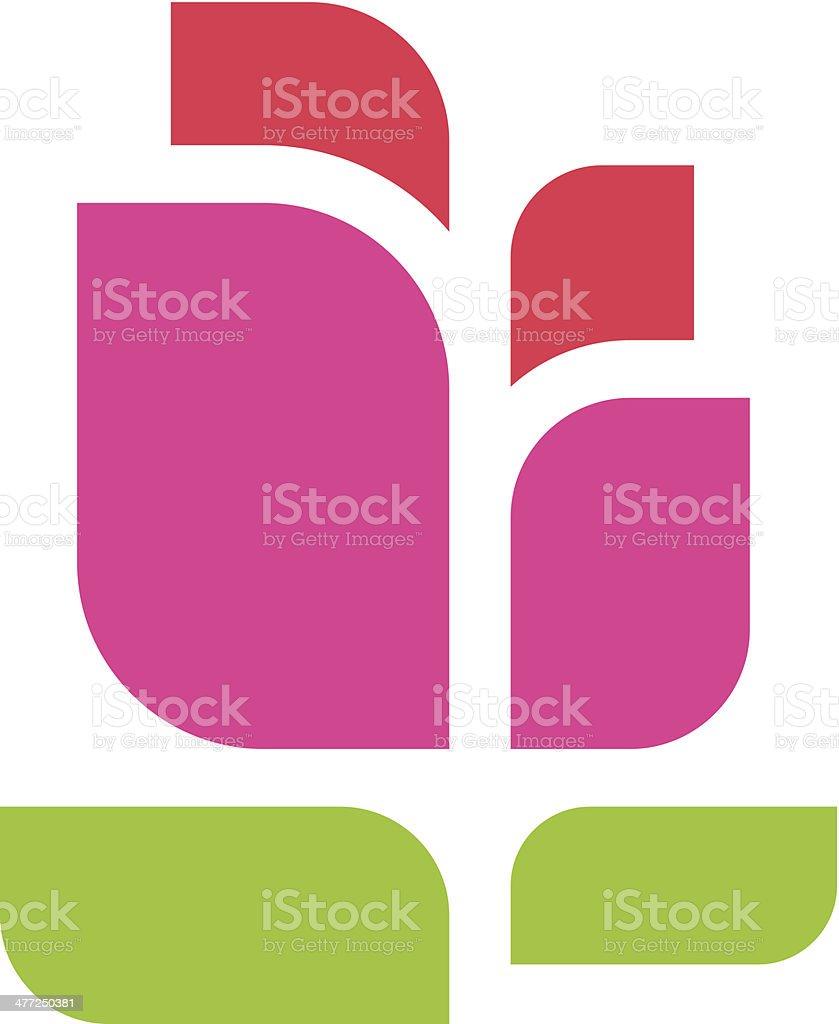 Moderne De Belle Fleur Rouge Logo De Croissance Vector Illustration