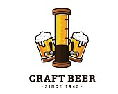 Modern Beer And Brewery Emblem icon Design