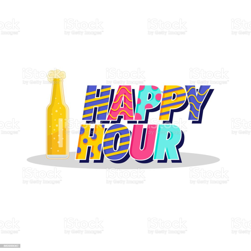 modern beer happy hour card illustration stock vector art more rh istockphoto com work happy hour clipart friday happy hour clip art
