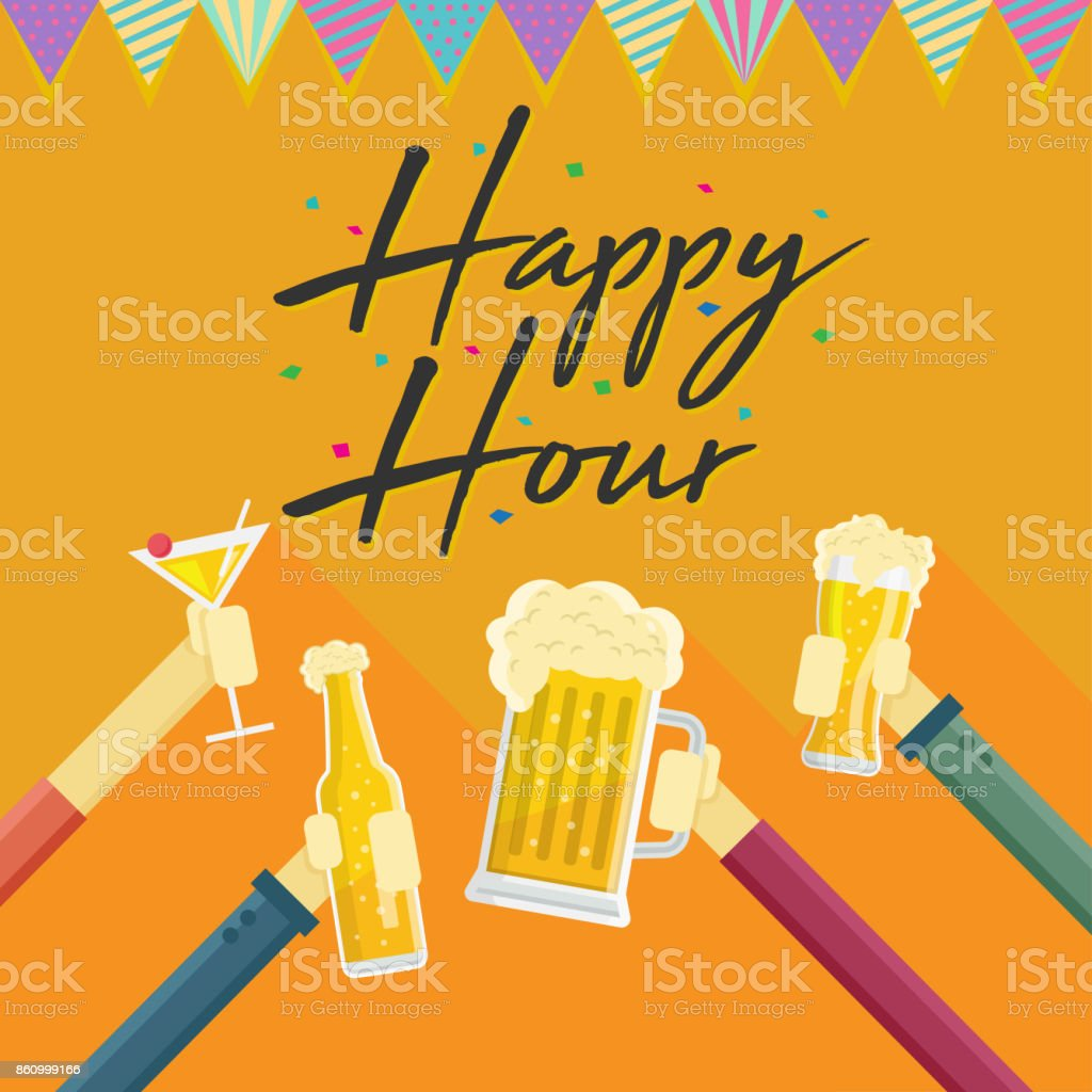 Hervorragend Modern Beer Happy Hour Card Illustration Royalty Free Modern Beer Happy  Hour Card Illustration Stock