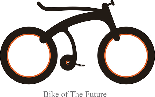 modern bicycle of the future, Vector illustration