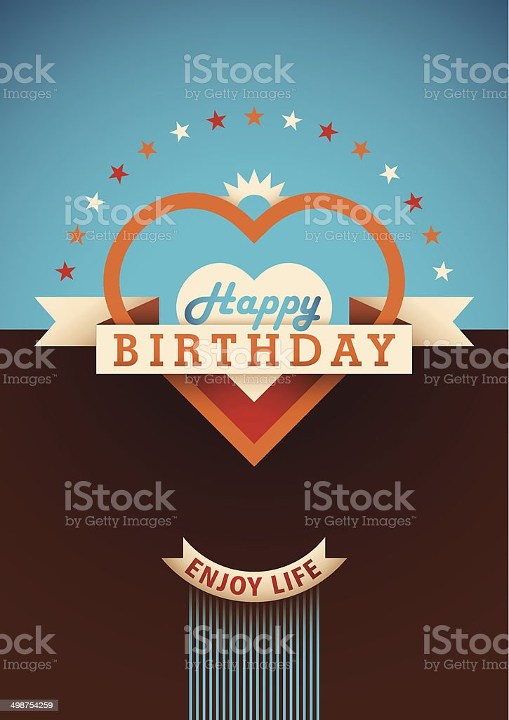 Modern Birthday Card Design Stock Vector Art More Images Of