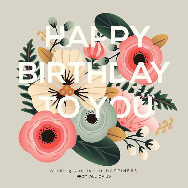 モダンな誕生日のカード - 春のファッション点のイラスト素材/クリップアート素材/マンガ素材/アイコン素材