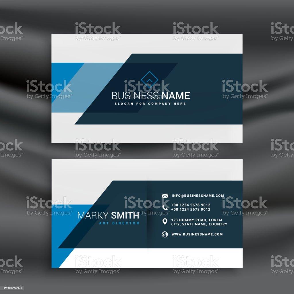 modern blue business identity template vector art illustration