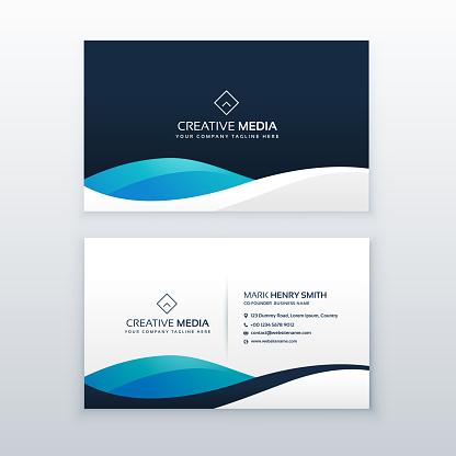 modern blue creative business card design
