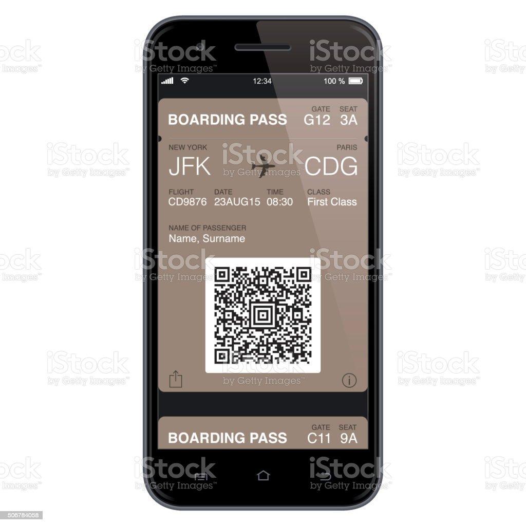 Modern Boarding Pass Template. Vector